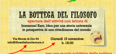 La bottega del filosofo 2018